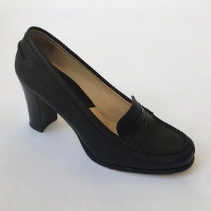 Michael Kors Black Penny Loafer Heel Size 7.5